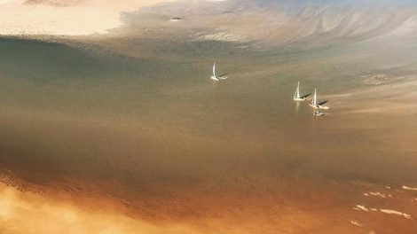 Lake Eyre yachts set sail as flood waters stop -month journey