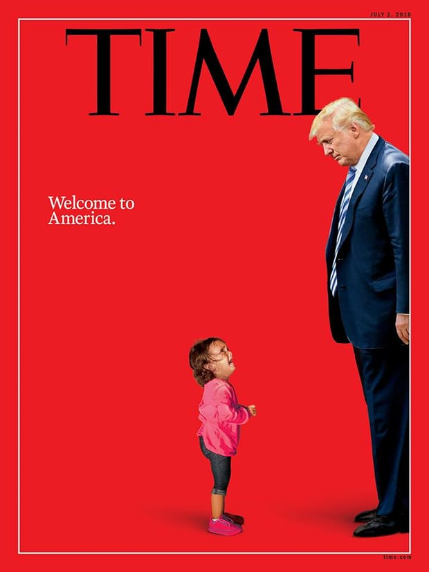 Time magazine places Trump opposite sobbing baby on cover