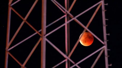 2018's blood moon visible around the sector – in pics