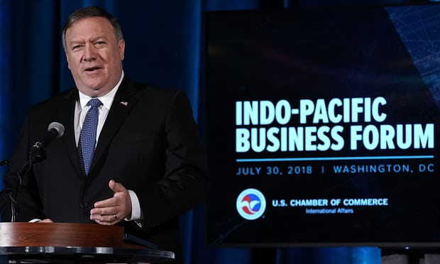 Mike Pompeo pledges US 'partnership no longer domination' in 'Indo-Pacific' region