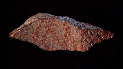 Earliest acknowledged drawing located on rock in South African cave