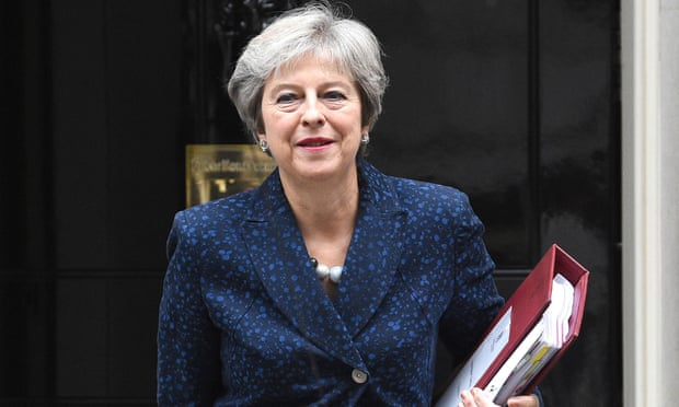 Theresa may hits returned at Barnier's grievance of Chequers proposals